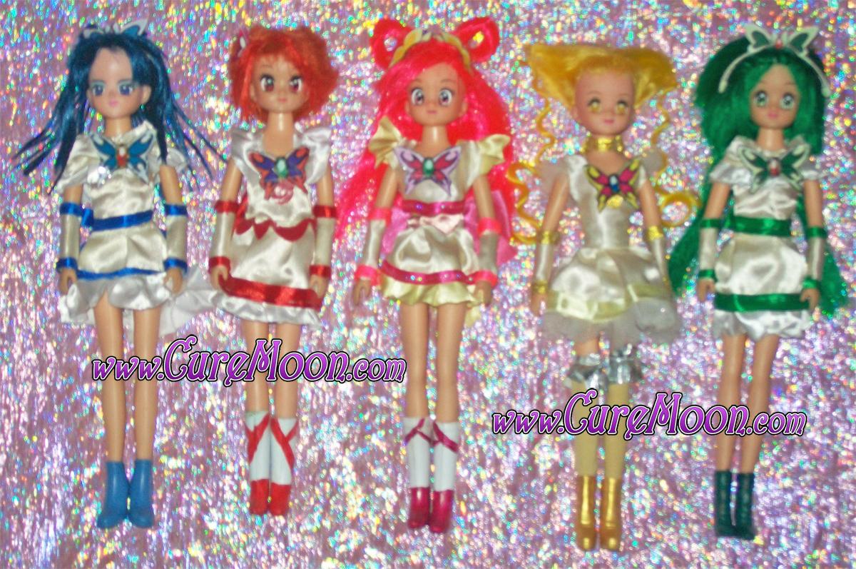 yes-pretty-cure-5-custom-dolls-bambole-handmade-ooak-curemoon-bunnytsukino