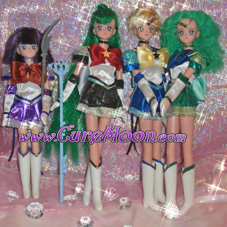sailor-moon-stars-eternal-outer-custom-ooak-handmade-saturn-pluto-neptune-uranus-dolls-bambole-doll-bambola-curemoon