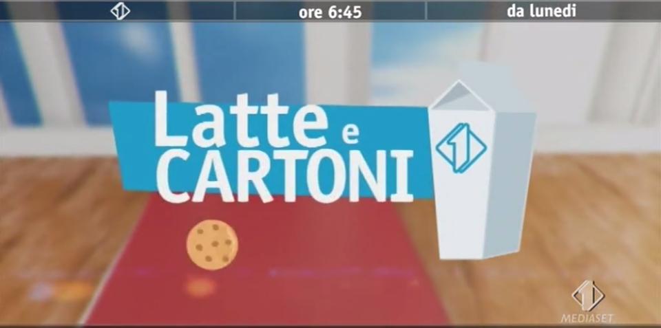 Latte e Cartoni, Il ritorno dei Cartoni Su Italia 1
