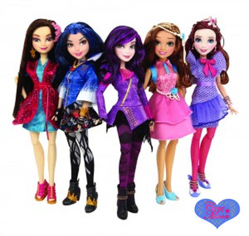 Descendants Una Nuova Linea Di Bambole Disney Latte Cartoni