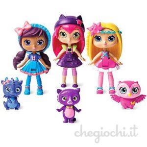 Set mini dolls 10 cm,snodata con animaletto magico. Disponibile anche singole.