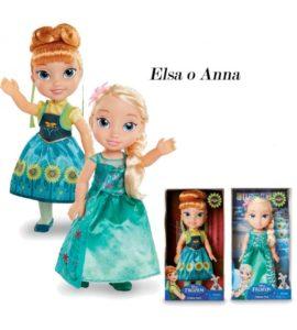 Elsa e Anna dal corto Frozen Fever cantano.by giochi preziosi