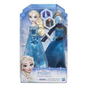 Elsa con doppio abito,per rivivere le scene più belle del film.Disponibile anche Anna