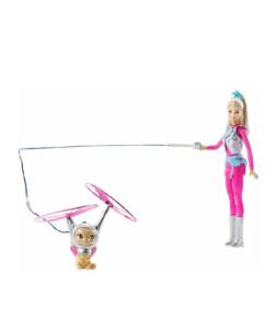 Barbie dal film :Avventure spaziali, per fare tante acrobazie con barbie e il suo cucciolo.