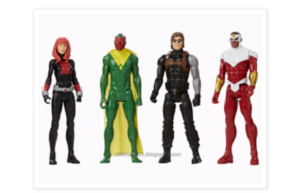Assortimento personaggi base alti 30 cm.