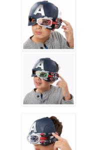 Maschera Captain america interattiva con spara tardi Nerf. Disponibile anche Iron Man