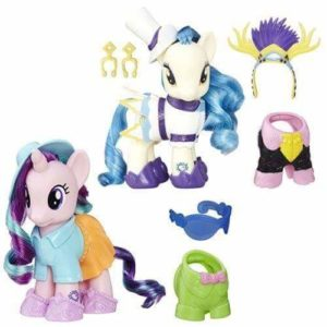 My little pony fashion style,alti 20 cm,con accessori e abiti di ricambio