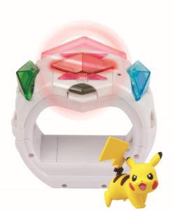 Pokemon  Z ring. Un fantastico bracciale abbinato ai giochi pokemon sole e luna.include statuetta di pikachu.