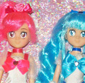 HeartCatch Pretty Cure: Cure Blossom e Cure Marine Bambole Custom Dolls Ooak